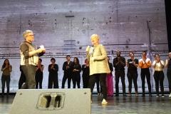 Danksagung auf Bühne