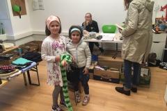 Flohmarkt Tasche und Schlange