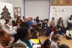 Publikum mit Kindern